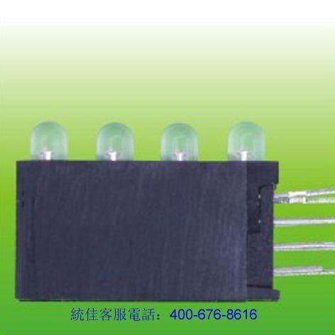 4連(lian)體帶座LED燈珠(zhu)?