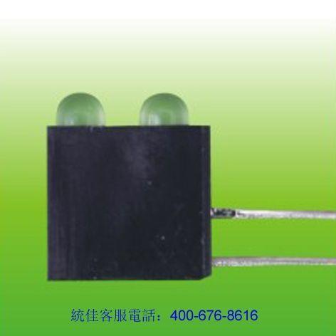 2連(lian)體帶座LED燈珠(zhu)